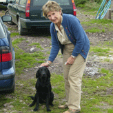 Elspeth Skinner with Diva from Mordor Gundogs, International Training & Breeding,          Perthshire, Scotland